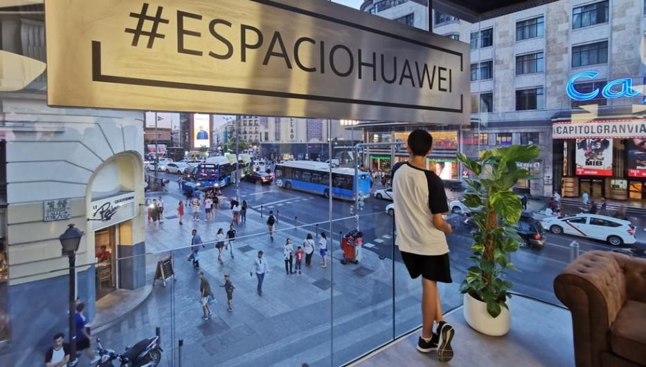 Fuimos proveedores de la tienda de Huawei en Madrid