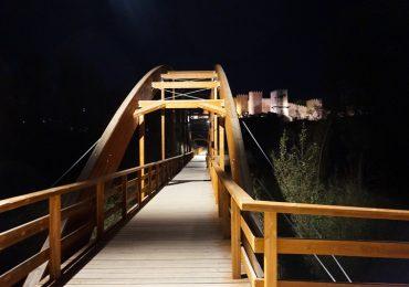 Iluminación pasarela río Adaja