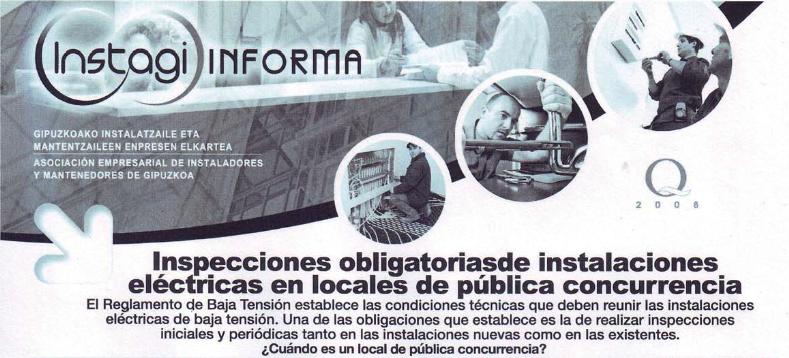 Inspecciones obligatorias de instalaciones eléctricas en locales de pública concurrencia